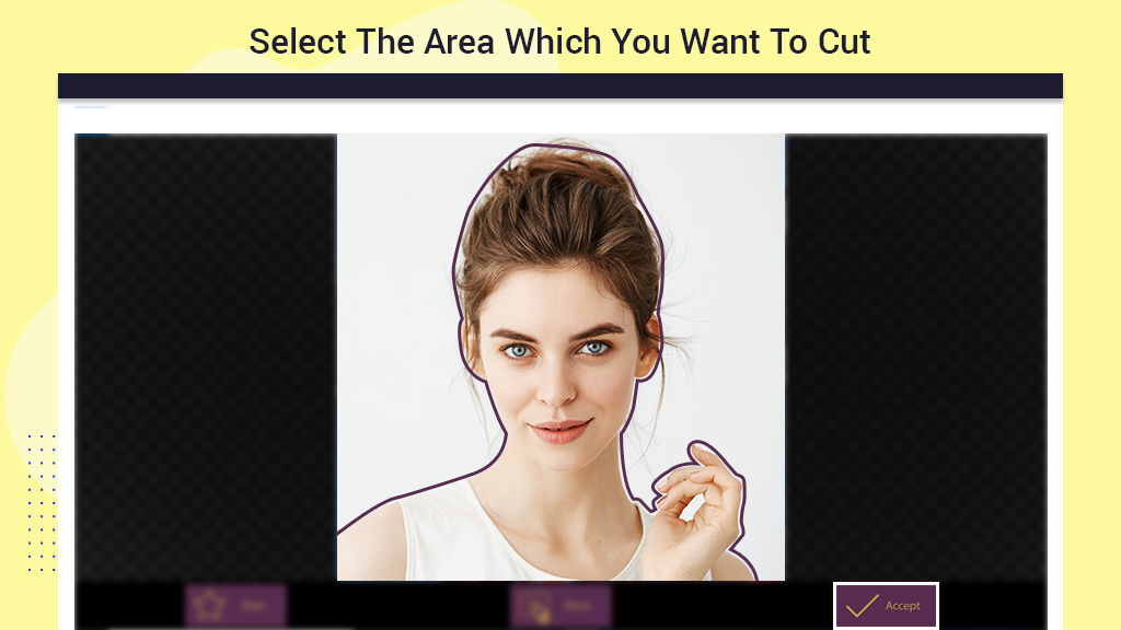 How to select a picture area to remove the background