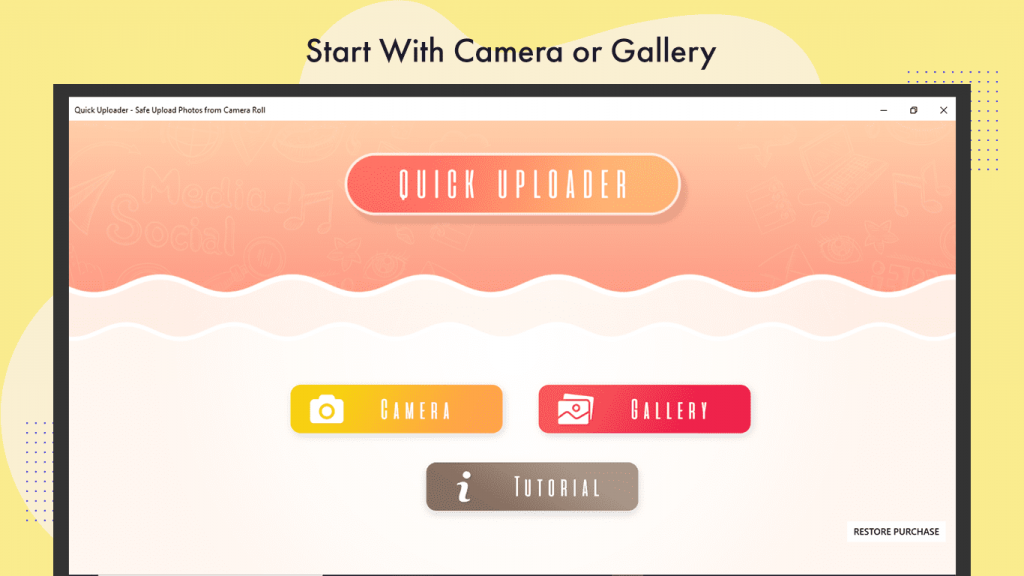 Filter effects on the photo Adjust photo saturation/sharpness/Brightness/Contract and Blur write text on a photo Quick Uploader – Safe Upload Photos videopix photo editor How to capture or load your image