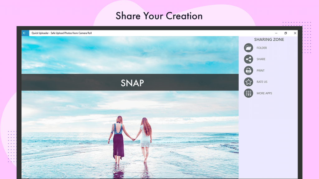 Adjust photo saturation/sharpness/Brightness/Contract and Blur write text on a photo Quick Uploader – Safe Upload Photos videopix photo editor
