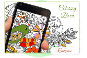 How to Compose image in an abstract coloring book