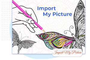How to import an image in an abstract coloring book