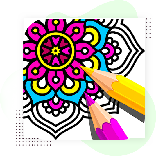 Abstract Coloring Book for video and photo editor videopix store