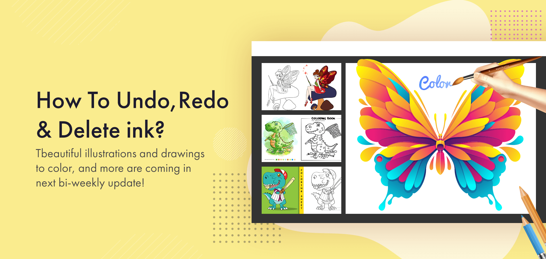 Undo Redo Delete ink Adult Coloring Book With Multiple Templates & Colors Undo Redo Delete ink