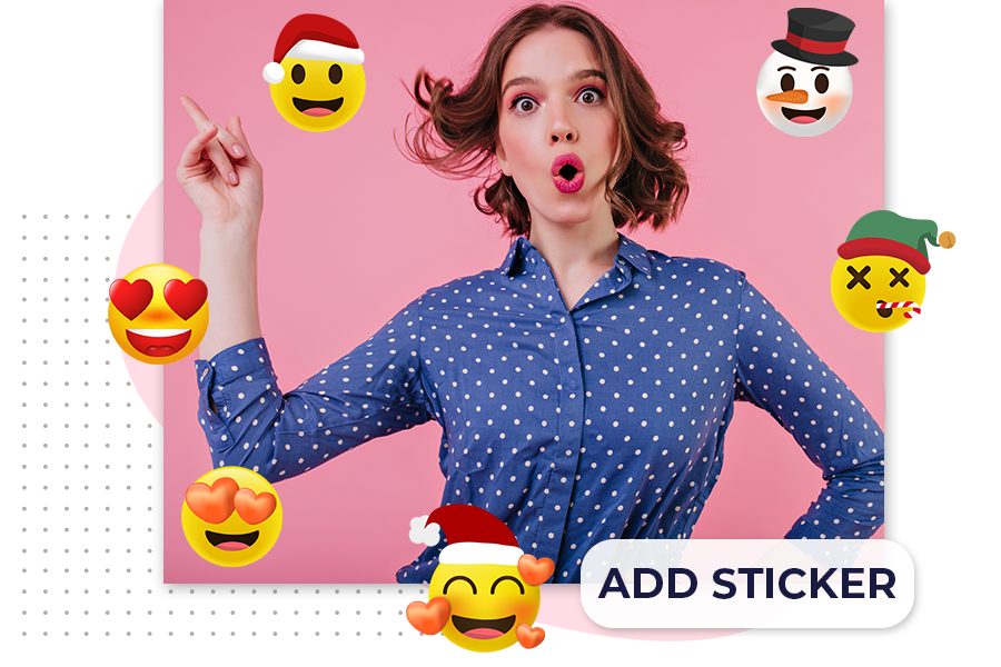 How to add stickers using a background eraser