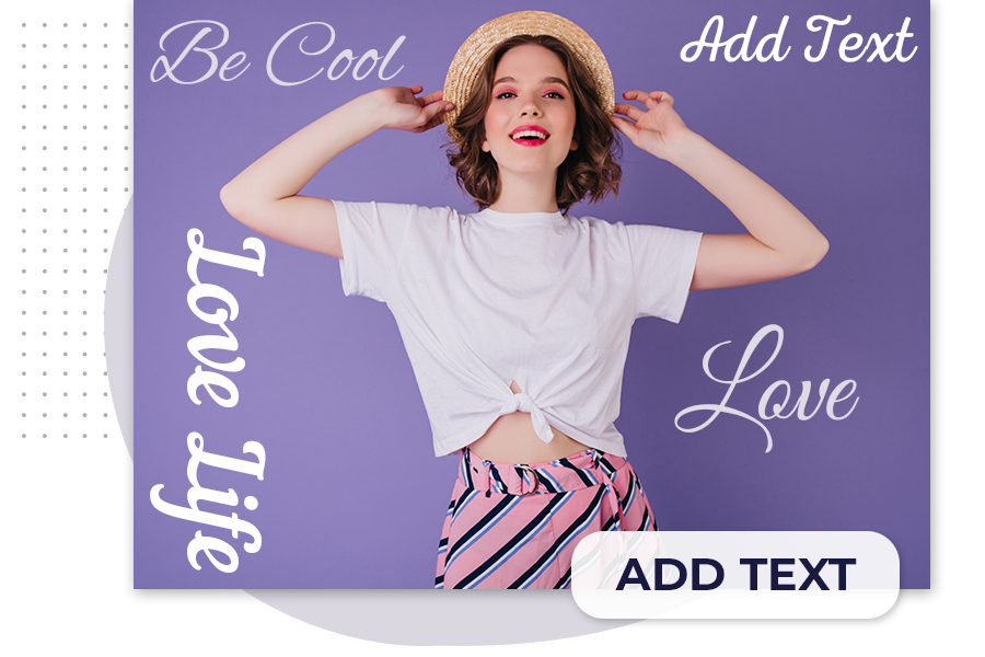 How to add text using a background eraser