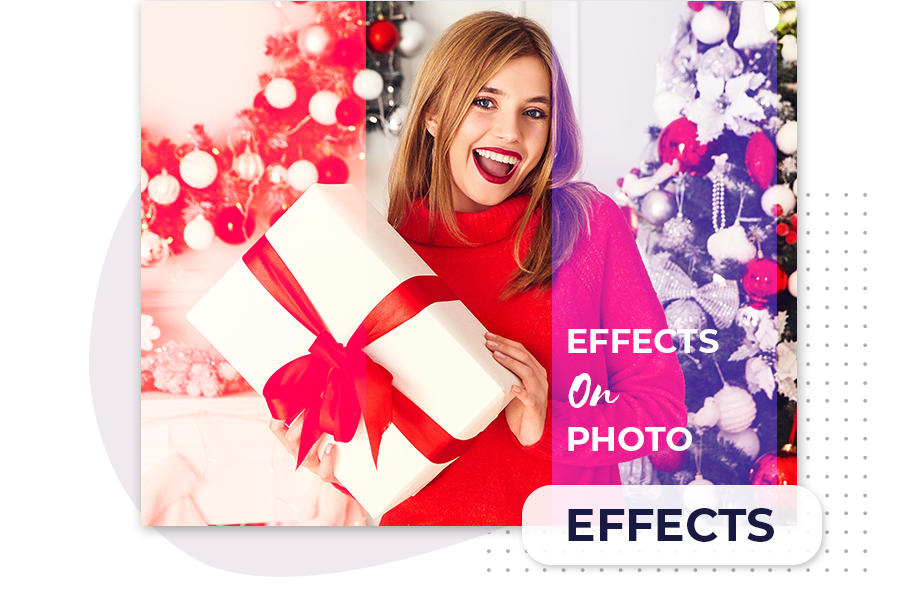 Apply filter effect on the photo using background eraser