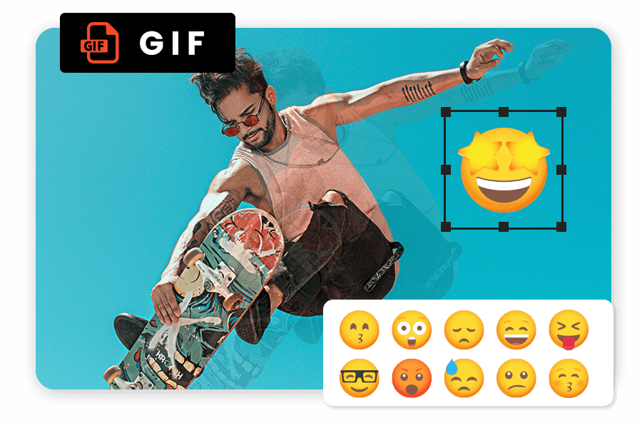 Add Animated Gif And Stickers