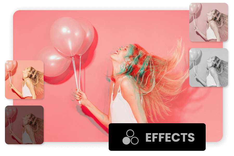 Add Effects and Theme to videos using movie creator