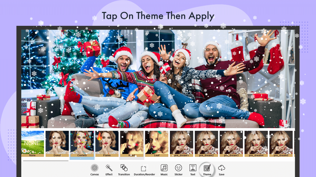 create a slideshow video with music