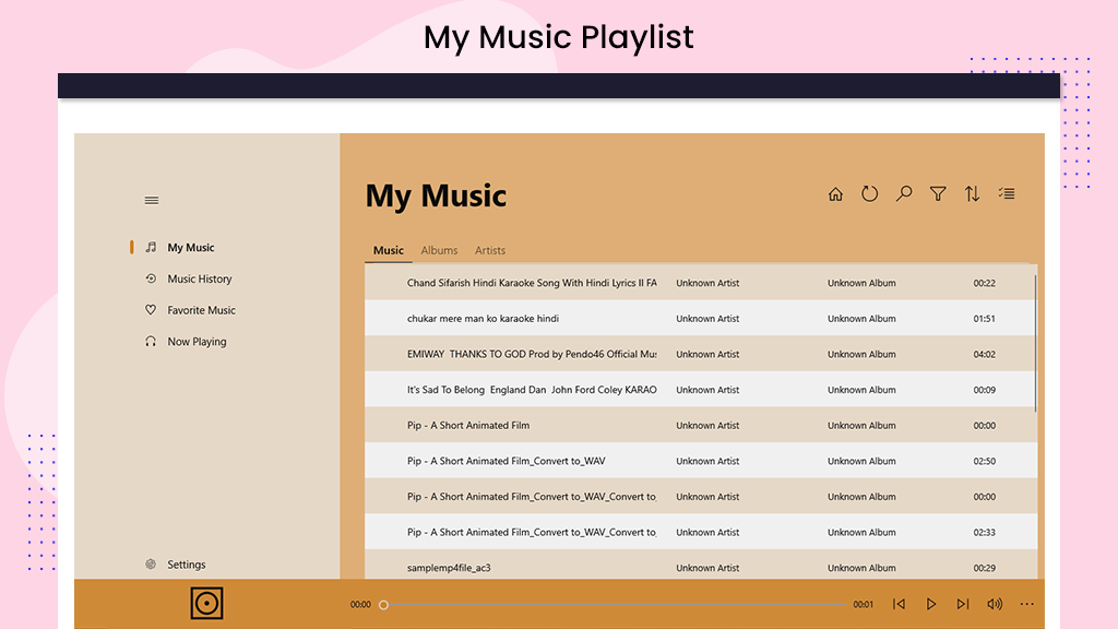 How to use My songs-music albums artists. How to Add Songs
