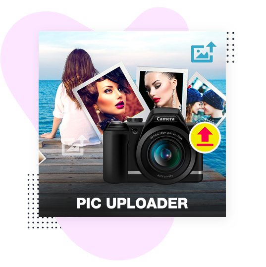 Quick Uploader for video and photo editor videopix store