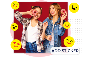 How to Add Stickers using the quick uploader