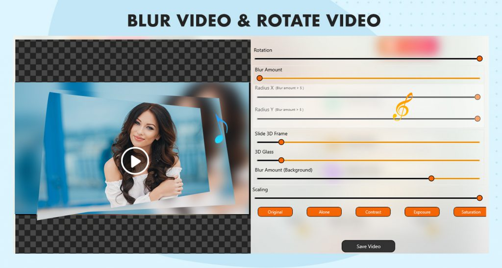 Blur the background of video